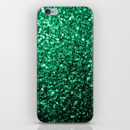 Beautiful Emerald Green glitter sparkles iPhone Skin