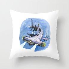 Hammerhead Sub Throw Pillow