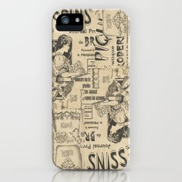 Vintage Art Nouveau collage iPhone Case