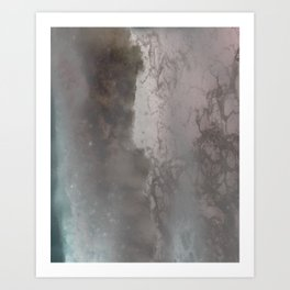 negative sea Art Print