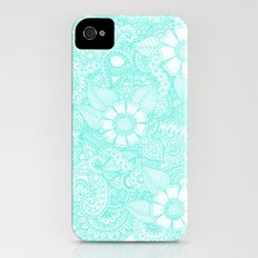 Henna Design - Aqua Slim Case iPhone (4, 4s)