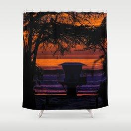 Tower 16 Sunset Shower Curtain
