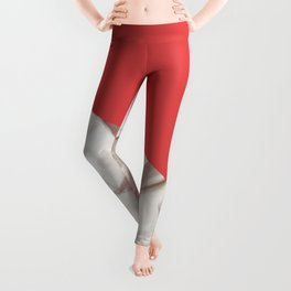 Abstract red paper background Leggings