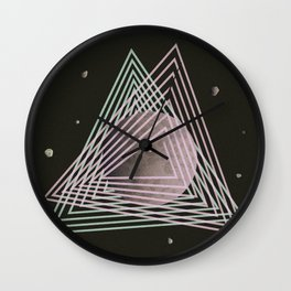Ceres abstract space Wall Clock
