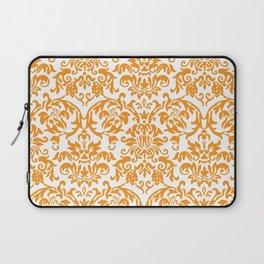 Elegant Damask Pattern (orange) Laptop Sleeve