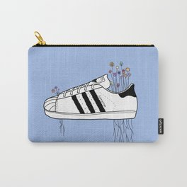 Flowers, Stripes & Superstars (Blue) Carry-All Pouch