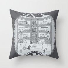 Darth Mall Throw Pillow
