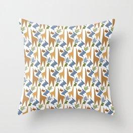Animal Origami Pattern Throw Pillow