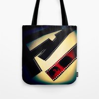film Tote Bags featuring Film by wendygray