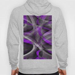 Eighties Retro Light Purple and Grey Curvy Pattern Hoody