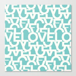 Hidden blue LOVE message Canvas Print