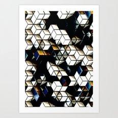Comic Cubes Art Print