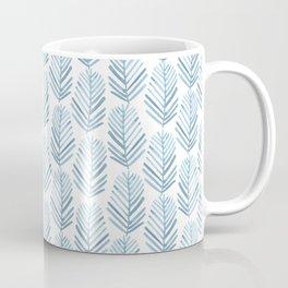 Feathers in blue Coffee Mug