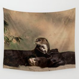Quiet, please! He is sleeping Wall Tapestry