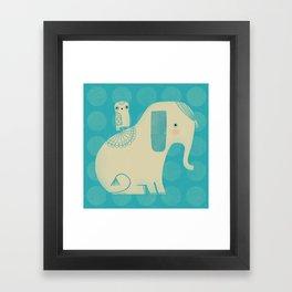 OWL & ELEPHANT Framed Art Print