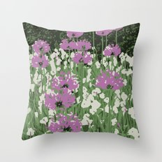 Spring Flowers in Central Park Throw Pillow