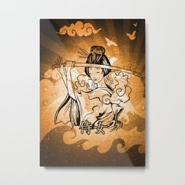 Samurai Woman Art Metal Print