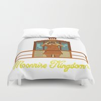 moonrise kingdom Duvet Covers featuring Moonrise Kingdom 8 bits by AlbaRicoque