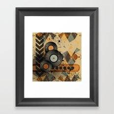 Retro Vinyl. Framed Art Print
