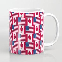 Mix of flag: Usa and Canada Coffee Mug