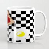 breakfast Mugs featuring Breakfast by Sartoris ART