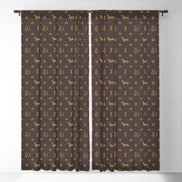 Louis Dachshund Luxury Dog Attire Blackout Curtain