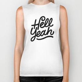 hell yeah X typography Biker Tank