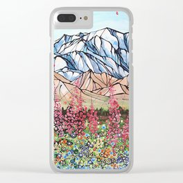 Denali Fireweed Clear iPhone Case