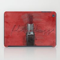 i woke up like this iPad Cases featuring Flawless (I Woke Up Like This) by Pixels and Paper