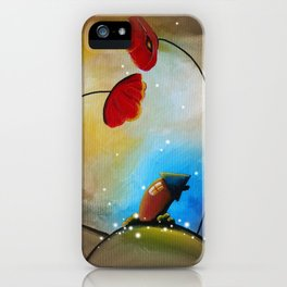 Hello - Little House and the Poppies iPhone Case