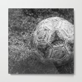 Soccer ball Metal Print