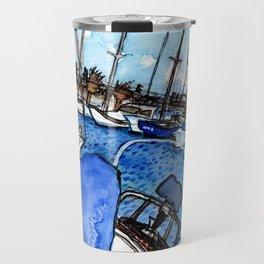 Boats at the Marina Travel Mug