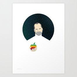 Steven Jobs / Apple Art Print