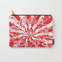 Pattern #2 I - Red Swirl Carry-All Pouch