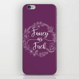 FANCY AS FUCK - Sweary Floral Wreath iPhone Skin