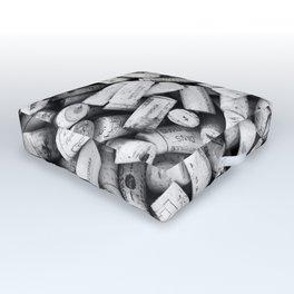 Something Nostalgic II Twist-off Wine Corks in Black And White #decor #society6 #buyart Outdoor Floor Cushion