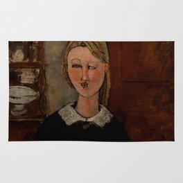 """Amedeo Modigliani """"The Pretty Housewife (La Jolie ménagère)"""" Rug"""