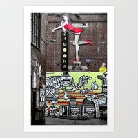 acdc Art Prints featuring ACDC Lane by Kate Karsten