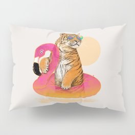 Chillin (Flamingo Tiger) Pillow Sham