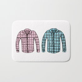 Flannel shirts Bath Mat