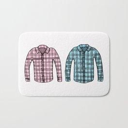 Flannel shirts Bath Mat