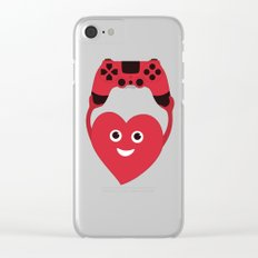 Gaming Heart Clear iPhone Case
