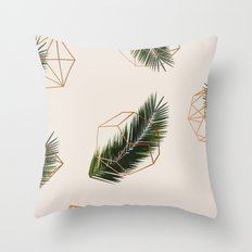 Palm + Geometry #society6 Decor #buyart Throw Pillow