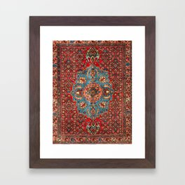 Bidjar Antique Kurdish Northwest Persian Rug Print Framed Art Print