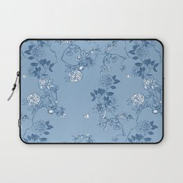 Chinoiserie in China Blue Laptop Sleeve