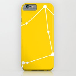 Libra (White & Yellow) iPhone Case
