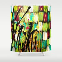 ruben Shower Curtains featuring Ruben by Del Otero Art