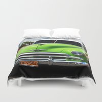 cuba Duvet Covers featuring Cuba green by frenchtoy
