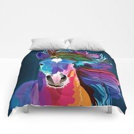 pop art horse Comforters