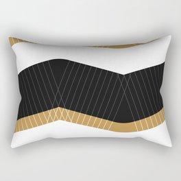 Crunchy Lines, No. 1 Rectangular Pillow